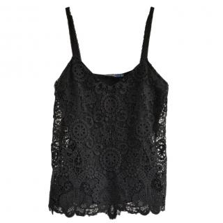 Ralph Lauren black lace top