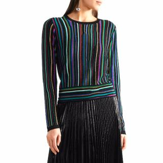Diane von Furstenberg Arisha Striped Knitted Sweater