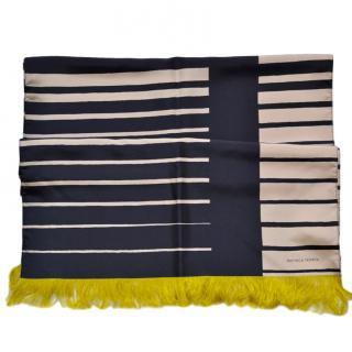 Bottega Veneta silk striped scarf