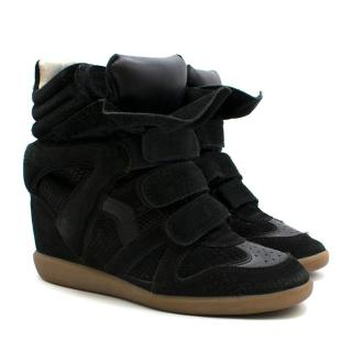 online retailer cdf41 a2a08 Isabel Marant Bekett Suede Wedge Sneakers