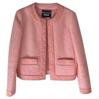 Moschino Boutique Collarless Pink Jacket
