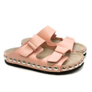 Giambattista Valli Pink Studded Slides