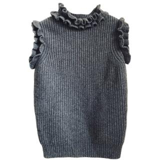 Christopher Kane Knit Ruffle Top