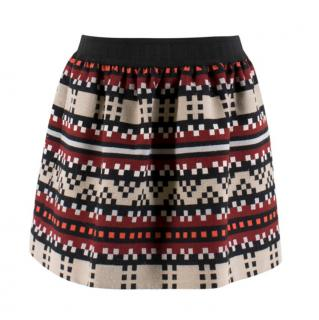 Jonathan Simkhai Geometric Print Wool-blend Skirt