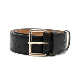 Louis Vuitton Black Perforated Monogram Mahina Leather Belt