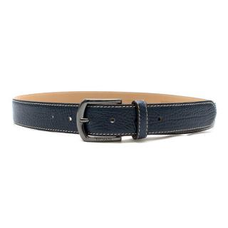 Balmain Men's Blue Leather Belt