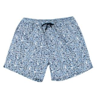Gieves & Hawkes Men's Blue Printed Swim Shorts