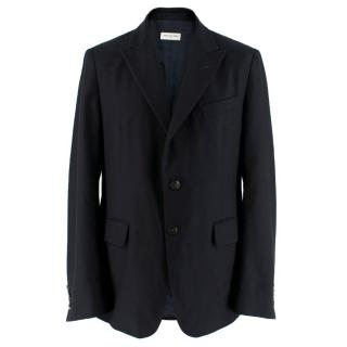 Dries Van Noten Navy Wool and Cashmere-Blend Jacket