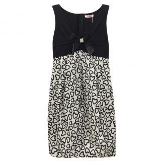 Blumarine Heart-Print Sleeveless Dress