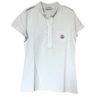 Moncler Ruffle-Trimmed Cotton-Pique Polo Shirt