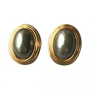 Christian Dior Vintage Mother-of-Pearl  Earrings