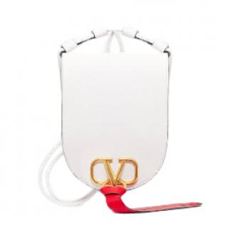 Valentino Vring Medium White Leather Cross-Body Bag