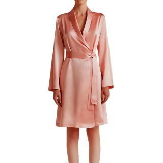 La Perla Pink Silk Satin Short Robe