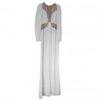 Alexander McQueen Contrast-Panel Gown