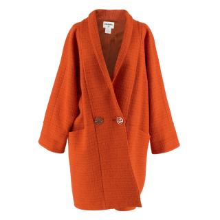 Chanel Alpaca & Wool Blend Cocoon Coat