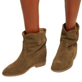 Isabel Marant Crisi Suede Wedge Ankle Boots