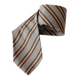 Emporio Armani Striped-Jacquard Tie