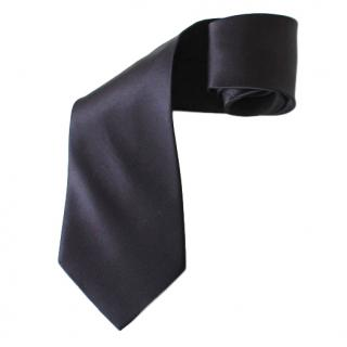 Pierre Cardin Black Silk-Satin Tie