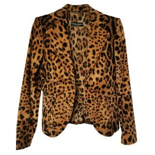 Dolce & Gabbana Leopard-Print Blazer