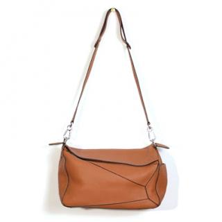 Loewe Puzzle Xl Grained-Leather Bag In Tan