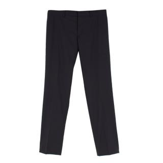 Gucci Men's Black Straight-leg Suit Trousers