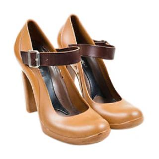 Marni Leather and Rubber Mary Jane Pumps
