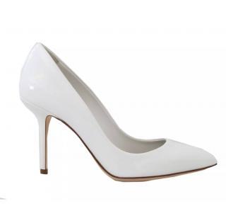 Dolce & Gabbana White Patent Pumps