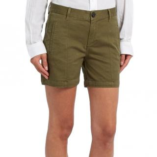 Frame Army-green Le Cuffed Shorts
