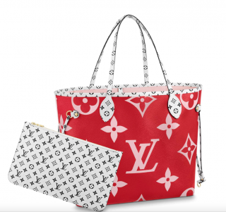 Louis Vuitton Monogram Giant Red & Pink Neverfull MM