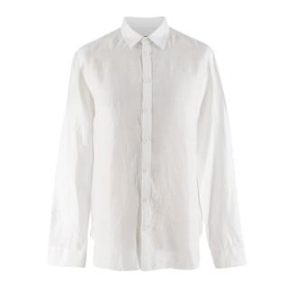 Zadig & Voltaire Men's White Linen & Cotton-blend Shirt