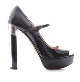 Miu Miu Peep-Toe Platform Heels