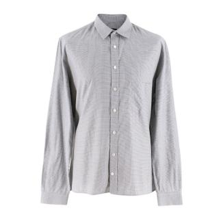 Joseph Men's Grey Gingham Check Shirt