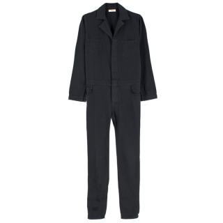 Ba&sh Black Cotton Jumpsuit