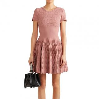 Alaia Pink A-line Knit Dress