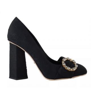Dolce & Gabbana Brocade Square Heel Pumps