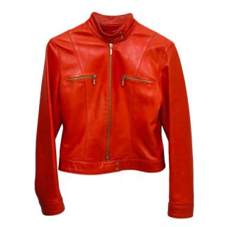Joseph Orange Leather Jacket