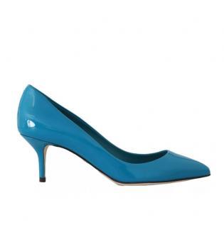 Dolce & Gabbana Patent Blue Pumps