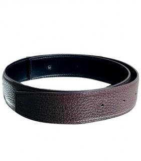 Hermes Dark-Brown Leather Belt