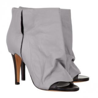 Maison Martin Margiela Open Toe Creased Ankle Boots
