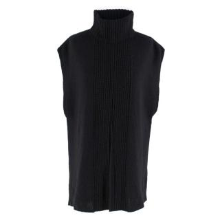 3.1 Phillip Lim Black Turtleneck Sleeveless Jumper