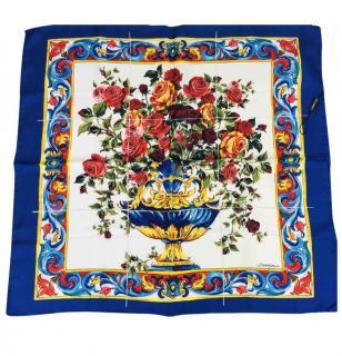 Dolce & Gabbana Vase-Print Silk Scarf