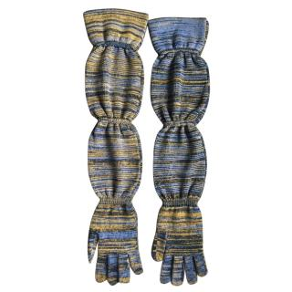 Missoni Space Dye long gloves