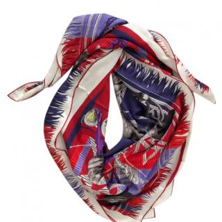 Hermes Lujo Carillo Silk & Cashmere Scarf
