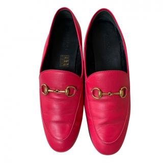 Gucci Jordan Pink Leather Loafers