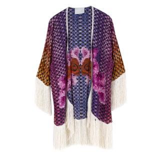 Athena Procopiou Floral Print Silk Kimono