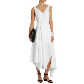 Osman Arya White Cotton Dress