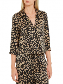 Kate Moss for Equipment Lake Leopard Print Washed-Silk Shirt