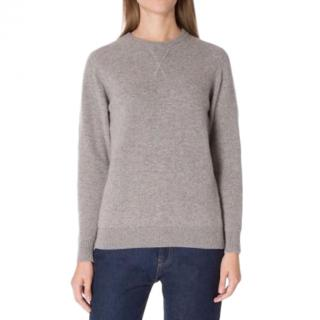 Sunspel Marble-Grey Cashmere Sweater