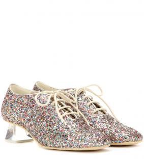 Stella McCartney Lace-Up Glitter Shoes