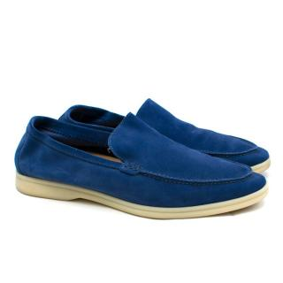 Loro Piana Summer Walk Suede Moccasin